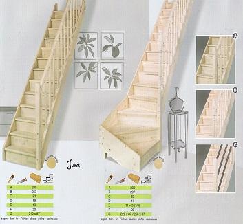Houten trap op maat gemaakt for Vurenhouten trap